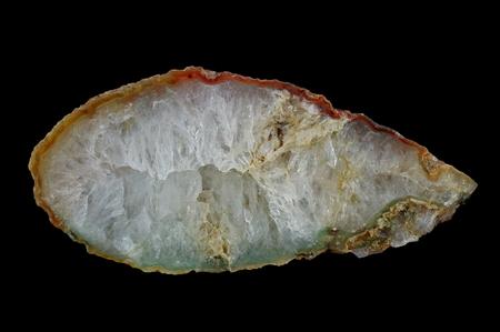 A cross-section of agate. Quartz - filled agate. Origin: Rudno near Krakow, Poland.