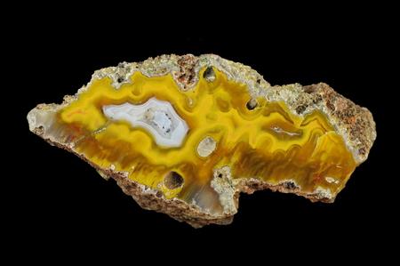 Microstalactite agate with quartz geode. Origin: Agouin, Atlas mountains, Morocco.