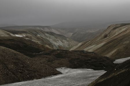 wildness: Landmannalaugar, clouds, cloudy, erosion, Iceland, landscape, mountain, mountains, natural, nature, north, northern, sky, valley, volcanic, wild, wildness,  Stock Photo