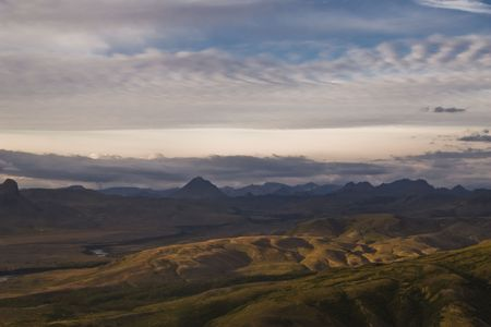 Landmannalaugar, clouds, cloudy, erosion, Iceland, landscape, mountain, mountains, natural, nature, north, northern, river, rock, sky, valley, volcanic, wild, wildness,  photo