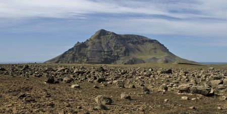 wildness: Iceland, landscape, mountain, mountains, natural, nature, north, northern, rock, sky, sky erosion, sunny, volcanic, wild, wildness,  Stock Photo