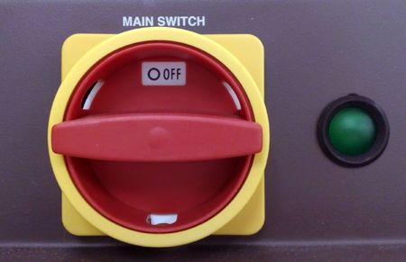 Main Switch with the green lamp