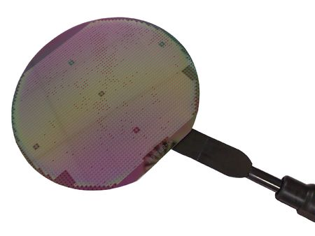 Silicon wafer on the vacuum holder