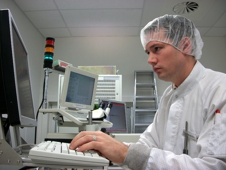Operator of the measuring station Stock Photo - 8045369