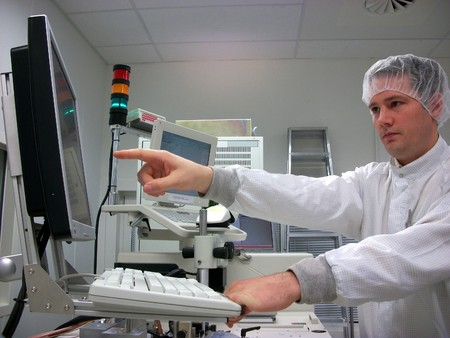 Operator of the measuring station Stock Photo - 8045432