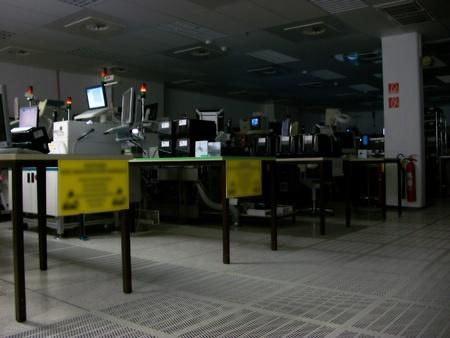 Dark empty factory room