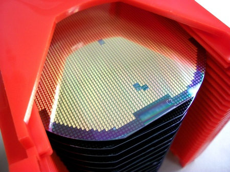 wafers: Silicone wafers in a carrier