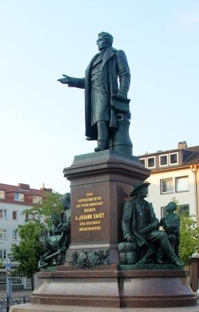 BREMERHAFEN - JULY 12  monument to mayor of Bremen, Dr  Johann Smidt on July 12, 2013 in Bremerhafen, Germany  Dr  Johann Smidt founded Bremerhafen city Editorial