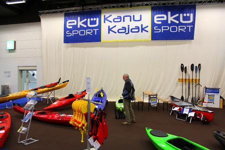october 31: HAMBURG, GERMANY - OCTOBER 31: Hanseboot Expo on October 31, 2014 at Hanseboot - the international boat show, Hamburg, Germany. Editorial
