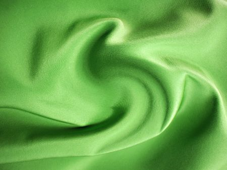 background green silk cloth with pleats