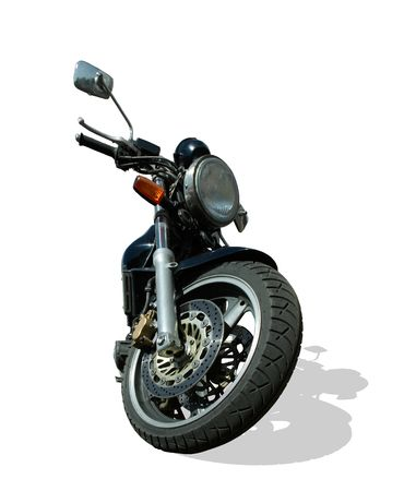 Road motorcycle on a white background Stock Photo
