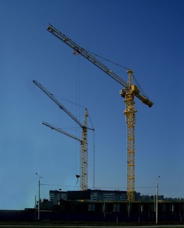The building crane, construction, housing   Stock Photo