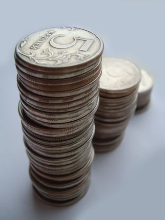 roubles: Five roubles a trifle, fine, coins, metal, a background, money, the fee, profit, the income, dividends, the market, delivery
