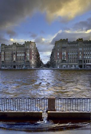 embankment of Fontanka river