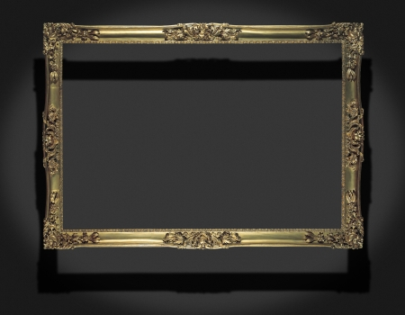 antique bronze frame for a picture photo