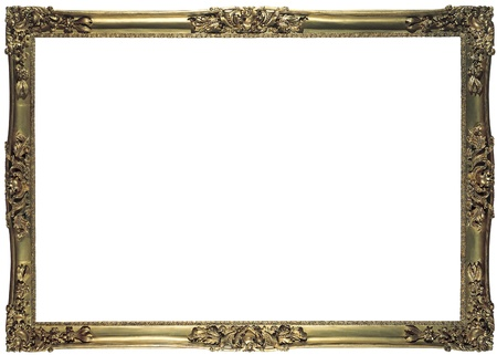 antique bronze frame for a picture isolated Stock Photo