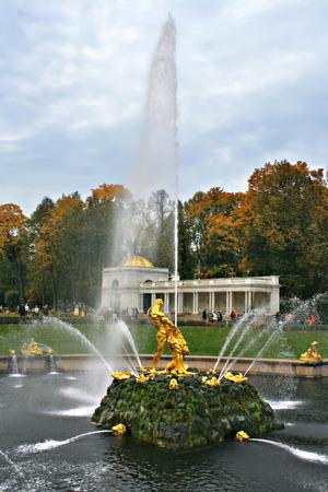 Fountain of \Samson\ in Peterhof, St.-Petersburg