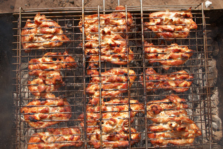 succulent chicken cooked on the grill