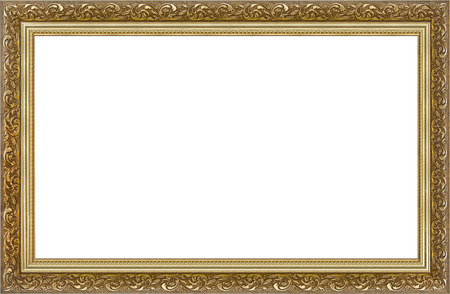 Wooden gilded picture frame