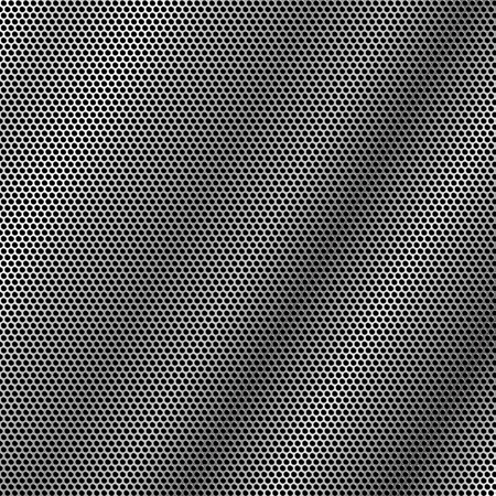 metal mesh with holes arranged in a hexagon