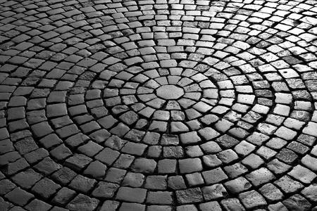 paving: black and white paving Stock Photo