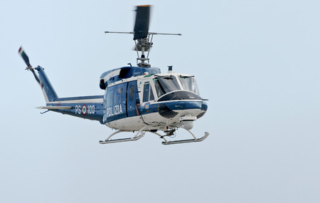 supervise: Italian police helicopter