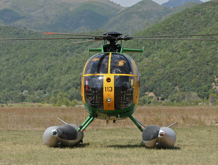 supervise: Italian financial police helicopter