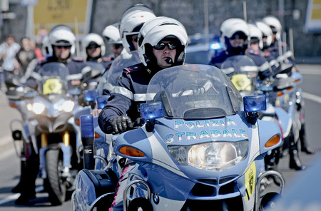 police state: Traffic police of the Italian state