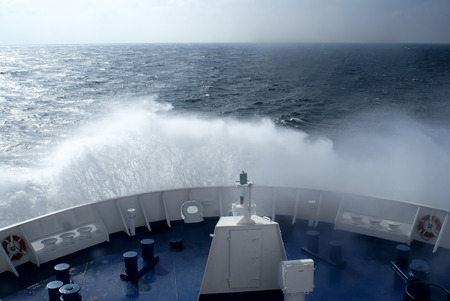 vessel sink: ferry, crossing the baltic sea, south direction