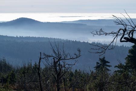 panorama from Fichtelberg, Erzgebirge, Saxony
