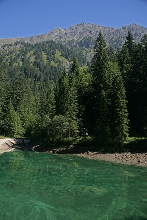 spiegelung: turquoise lake