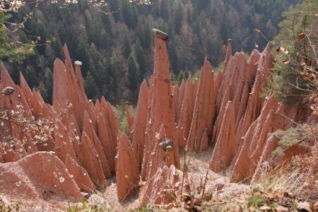 tyrol: earth pyramid with capstone South Tyrol - Italy Stock Photo