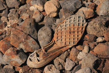 sole: broken shoe sole Stock Photo