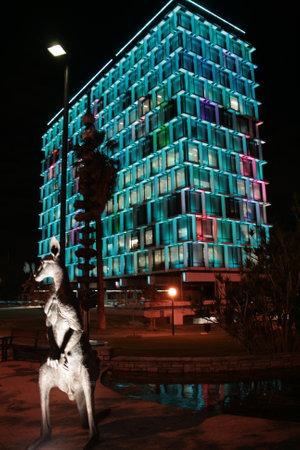 council: Council House at night - Perth - Australia Editorial