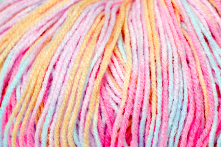 acrylic yarn: skein of yarn melange closeup Stock Photo