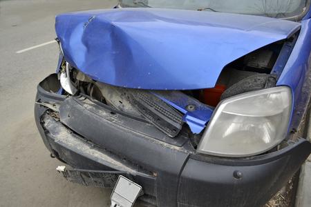bad accident: Car crash Stock Photo