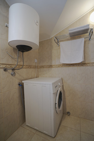 guest house: Interior of a bathroom in a guest house or an apartment in Herceg-Novi, Montenegro