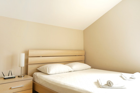 bedroom suite: Interior of a bedroom suite in a guest house or an apartment