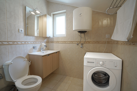 guest house: Interior of a bathroom in a guest house or an apartment