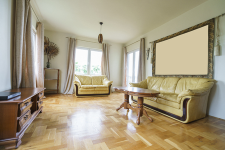guest house: Interior of a living room in a guest house Stock Photo