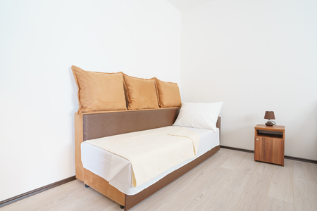 guest house: Interior of a guest house bedroom