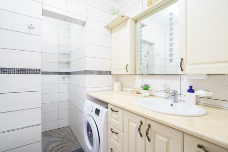 guest house: Interior of a bathroom in a guest house