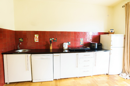 guest house: Interior of a guest house kitchen Stock Photo