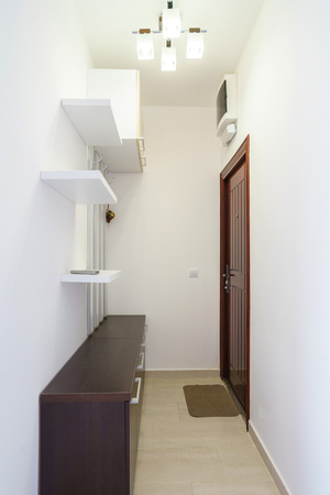 garderobe: Interior of a hall of the apartment Stock Photo