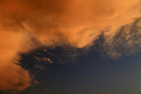 奇妙な雲の形成 写真素材
