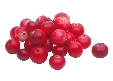 fresh cranberry isolated on white