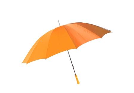 Orange umbrella isolated on white background Stock Photo - 10619050