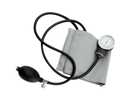 diastolic: sphygmomanometer isolated on white background