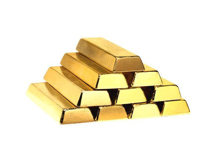Gold Bars isolated on white Stock Photo - 10976224