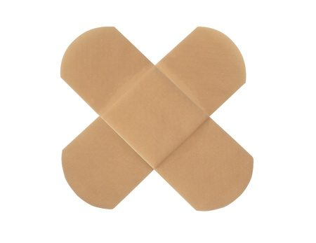 band aid: Medical patch isolated on white